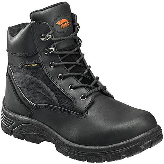 Avenger Mens EH Waterproof Boot M Black Leather Soft Toe Boots