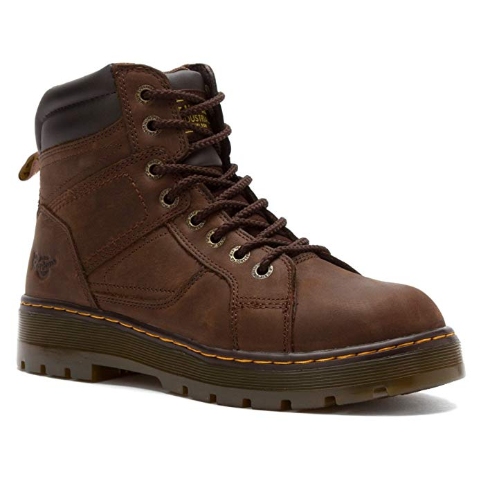 Dr. Martens Men's Duct 8 Eye Lace To Toe Steel Toe Boot