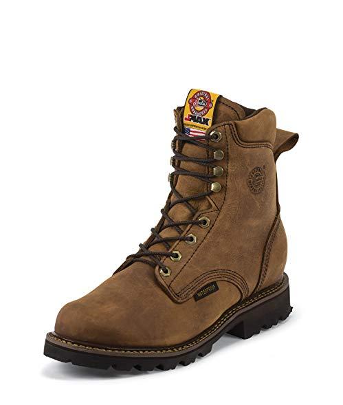 Justin Men's Tool Pusher Waterproof Work Boot Composite Round Toe - 481