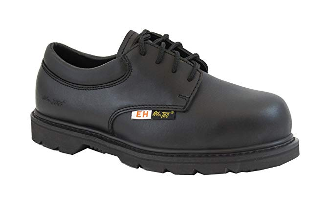 Adtec Mens Black 4in Composite Toe Oxford Shoes Leather Uniform
